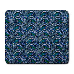 Boomarang Pattern Wave Waves Chevron Green Line Large Mousepads by Mariart