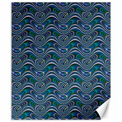Boomarang Pattern Wave Waves Chevron Green Line Canvas 8  X 10  by Mariart