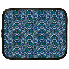 Boomarang Pattern Wave Waves Chevron Green Line Netbook Case (large) by Mariart