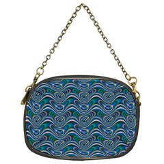 Boomarang Pattern Wave Waves Chevron Green Line Chain Purses (two Sides)
