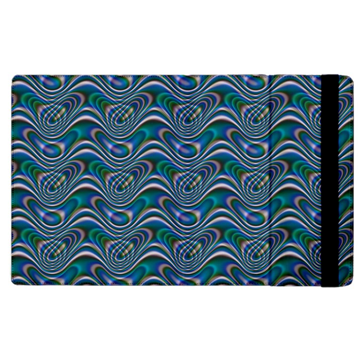 Boomarang Pattern Wave Waves Chevron Green Line Apple iPad 2 Flip Case