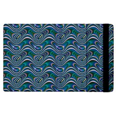 Boomarang Pattern Wave Waves Chevron Green Line Apple Ipad 3/4 Flip Case by Mariart