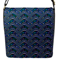 Boomarang Pattern Wave Waves Chevron Green Line Flap Messenger Bag (s) by Mariart