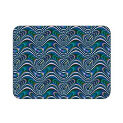 Boomarang Pattern Wave Waves Chevron Green Line Double Sided Flano Blanket (mini)  by Mariart