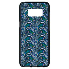 Boomarang Pattern Wave Waves Chevron Green Line Samsung Galaxy S8 Black Seamless Case by Mariart