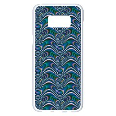 Boomarang Pattern Wave Waves Chevron Green Line Samsung Galaxy S8 Plus White Seamless Case