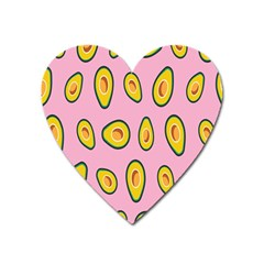 Fruit Avocado Green Pink Yellow Heart Magnet by Mariart