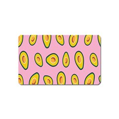 Fruit Avocado Green Pink Yellow Magnet (name Card) by Mariart