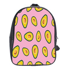Fruit Avocado Green Pink Yellow School Bags(large)