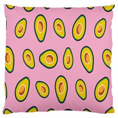 Fruit Avocado Green Pink Yellow Large Cushion Case (two Sides) by Mariart