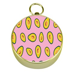 Fruit Avocado Green Pink Yellow Gold Compasses