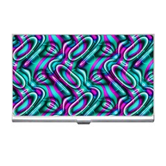 Circle Purple Green Wave Chevron Waves Business Card Holders by Mariart