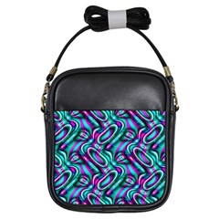 Circle Purple Green Wave Chevron Waves Girls Sling Bags by Mariart