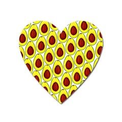 Avocados Seeds Yellow Brown Greeen Heart Magnet by Mariart