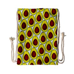 Avocados Seeds Yellow Brown Greeen Drawstring Bag (small) by Mariart