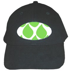 Green Water Rain Black Cap by Mariart