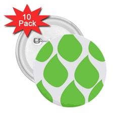 Green Water Rain 2 25  Buttons (10 Pack)  by Mariart