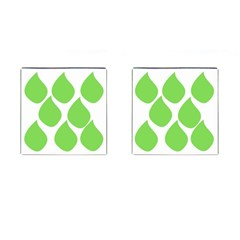 Green Water Rain Cufflinks (square) by Mariart