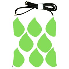 Green Water Rain Shoulder Sling Bags by Mariart