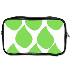 Green Water Rain Toiletries Bags 2 Side by Mariart