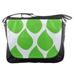 Green Water Rain Messenger Bags by Mariart