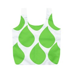 Green Water Rain Full Print Recycle Bags (m)  by Mariart