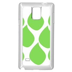 Green Water Rain Samsung Galaxy Note 4 Case (white) by Mariart