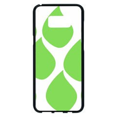 Green Water Rain Samsung Galaxy S8 Plus Black Seamless Case