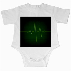 Heart Rate Green Line Light Healty Infant Creepers by Mariart