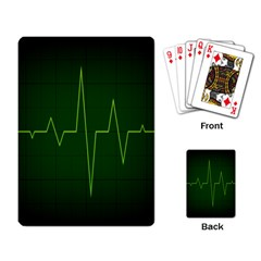 Heart Rate Green Line Light Healty Playing Card by Mariart