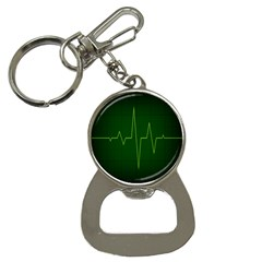 Heart Rate Green Line Light Healty Button Necklaces by Mariart