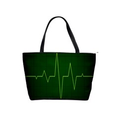 Heart Rate Green Line Light Healty Shoulder Handbags by Mariart