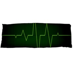 Heart Rate Green Line Light Healty Body Pillow Case (dakimakura) by Mariart