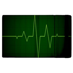 Heart Rate Green Line Light Healty Apple Ipad 3/4 Flip Case by Mariart