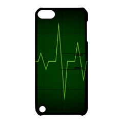 Heart Rate Green Line Light Healty Apple Ipod Touch 5 Hardshell Case With Stand by Mariart