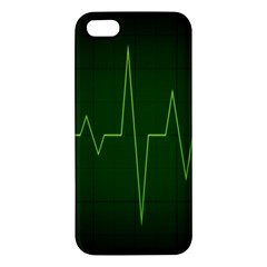 Heart Rate Green Line Light Healty Apple Iphone 5 Premium Hardshell Case by Mariart