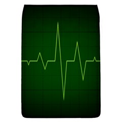 Heart Rate Green Line Light Healty Flap Covers (l)  by Mariart
