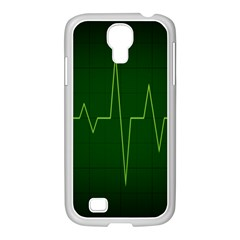Heart Rate Green Line Light Healty Samsung Galaxy S4 I9500/ I9505 Case (white) by Mariart
