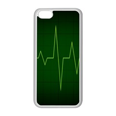 Heart Rate Green Line Light Healty Apple Iphone 5c Seamless Case (white) by Mariart