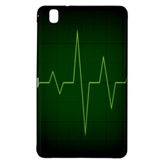 Heart Rate Green Line Light Healty Samsung Galaxy Tab Pro 8 4 Hardshell Case by Mariart