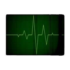 Heart Rate Green Line Light Healty Ipad Mini 2 Flip Cases by Mariart