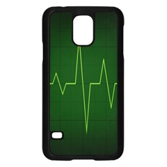Heart Rate Green Line Light Healty Samsung Galaxy S5 Case (black) by Mariart