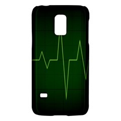 Heart Rate Green Line Light Healty Galaxy S5 Mini by Mariart