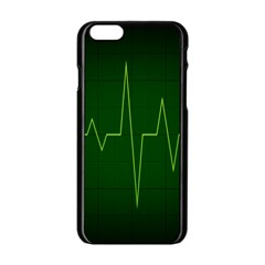 Heart Rate Green Line Light Healty Apple Iphone 6/6s Black Enamel Case by Mariart