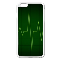 Heart Rate Green Line Light Healty Apple Iphone 6 Plus/6s Plus Enamel White Case by Mariart