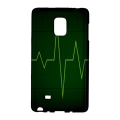 Heart Rate Green Line Light Healty Galaxy Note Edge by Mariart