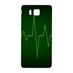 Heart Rate Green Line Light Healty Samsung Galaxy Alpha Hardshell Back Case by Mariart