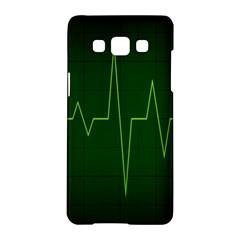 Heart Rate Green Line Light Healty Samsung Galaxy A5 Hardshell Case  by Mariart