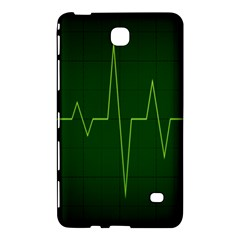 Heart Rate Green Line Light Healty Samsung Galaxy Tab 4 (7 ) Hardshell Case  by Mariart