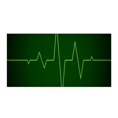 Heart Rate Green Line Light Healty Satin Wrap by Mariart